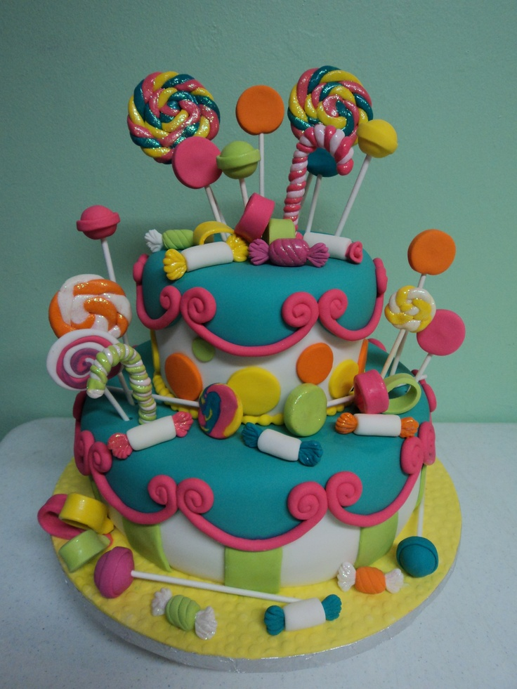 Candyland Cake Sweets Pinterest Follow Me Pastel And Cakes