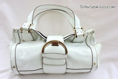 Sergio Rossi white leather bag (second hand) FOR SALE ON MY SHOP. Click on the picture to see more photos and details and shop it now! doyouspeakgossip.tictail.com
