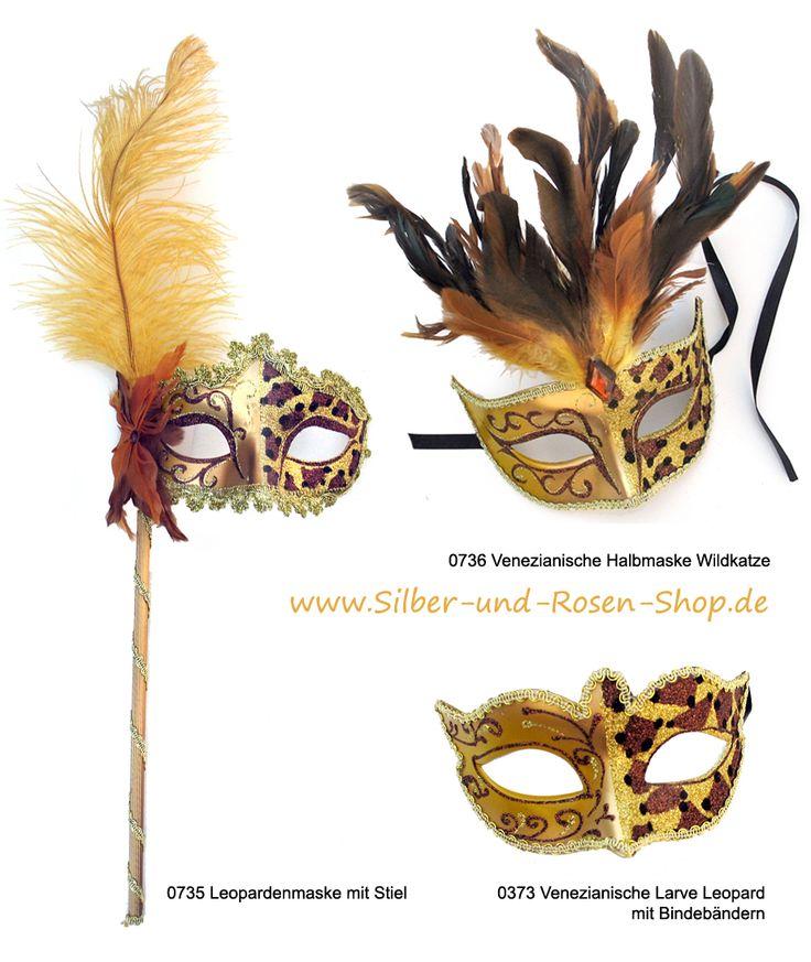 Neu eingetroffen, Masken mit Leopardenmuster  #Venedig #Karneval #Masken