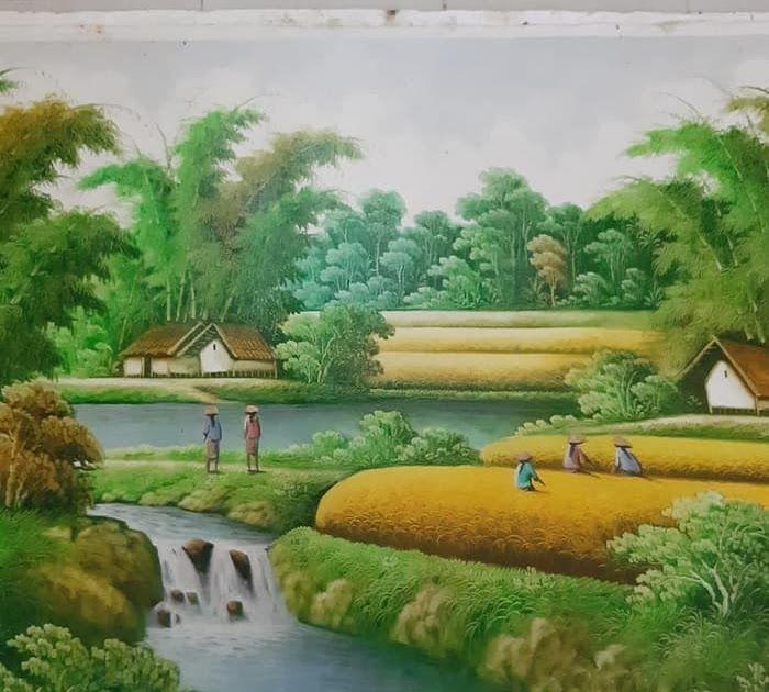 26 Lukisan Pemandangan Indah Pemandangan Alam Jual Lukisan Pemandangan Alam Indah 85 X135 A2sk Kab Gianyar Jendela Ubud Painting Toko Di 2020 Pemandangan Gambar Alam