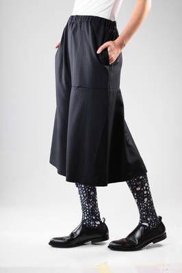 Divided skirt in pinstriped wool gabardine - COMME DES GARÇONS