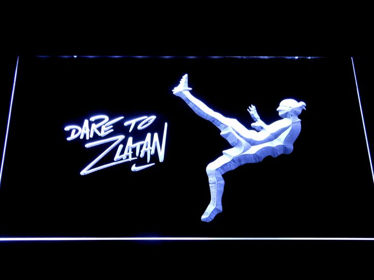 Manchester United Football Club Dare To Zlatan LED Neon Sign