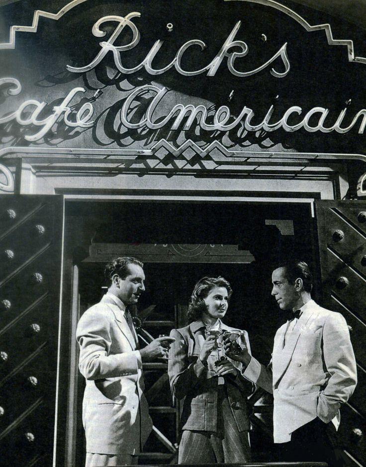 "Paul Henreid, Ingrid Bergman y Humphrey Bogart en ""Casablanca"", 1942"