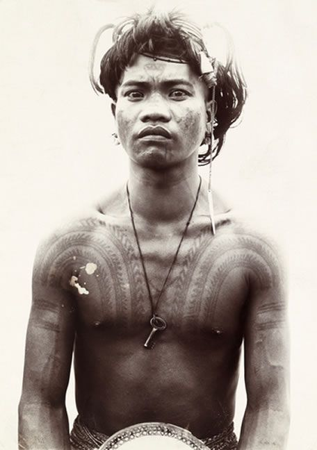 Bontok male from northern luzon island philippines for Philippine island tattoo