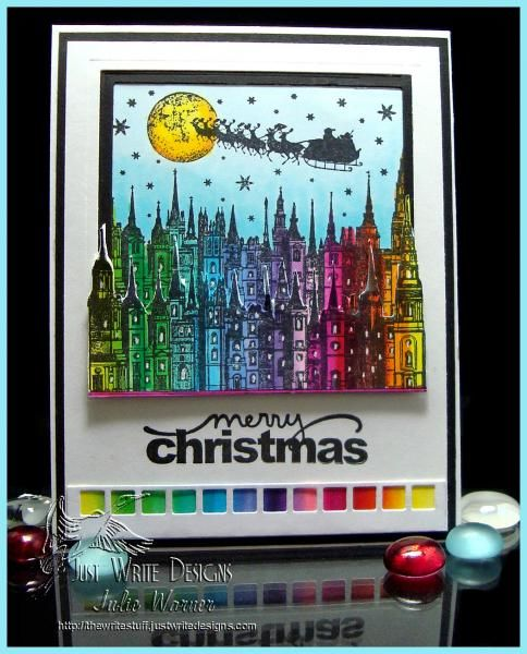 Christmas Rainbow QFTD220 by justwritedesigns - Cards and Paper Crafts at Splitcoaststampers