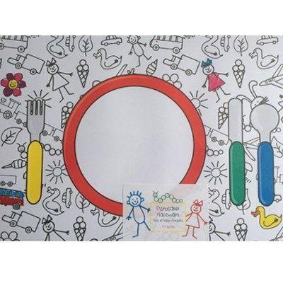 Placemat kleurplaten