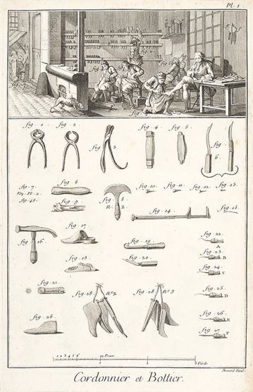 Diderot on Shoemaking #shoes #tools #fashion #history