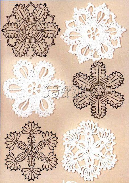 Crochet motifs charts...