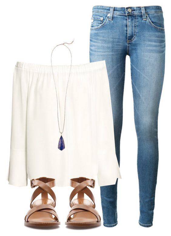 """""""This is so bad """" by madelyn-abigail ❤ liked on Polyvore featuring AG Adriano Goldschmied, H&M, Zara and Kendra Scott"""