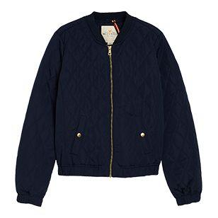 Quiltet Bomber Jacket Blå