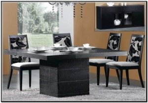 Luxury Dining Room with Contemporary Dining Table: Art Decor Dining Table ~ Dining Room Inspiration