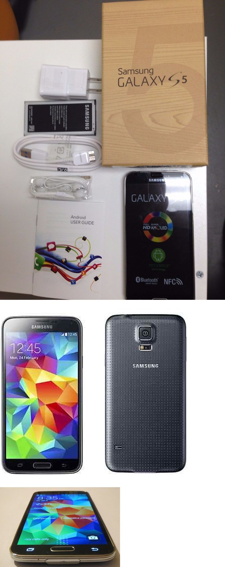 cell phones: New In Box Samsung Galaxy S5 Sm-G900v 16Gb Black Verizon Android Phone BUY IT NOW ONLY: $184.99