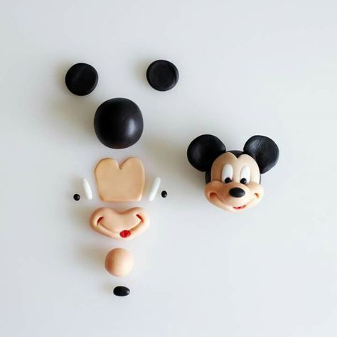 Mike mouse face modelling by Cake Dutchess!