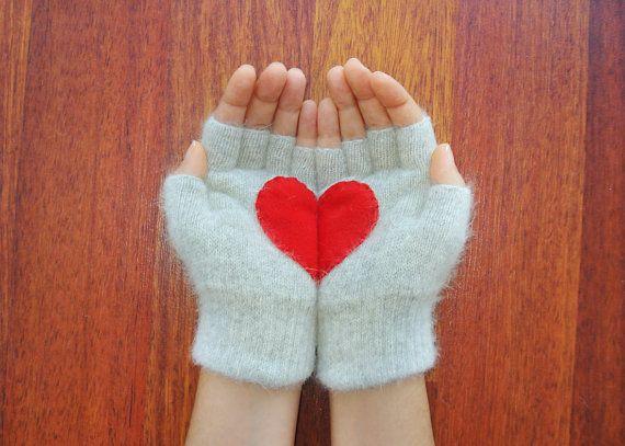 Handful of Heart, Fingerless Gloves $30