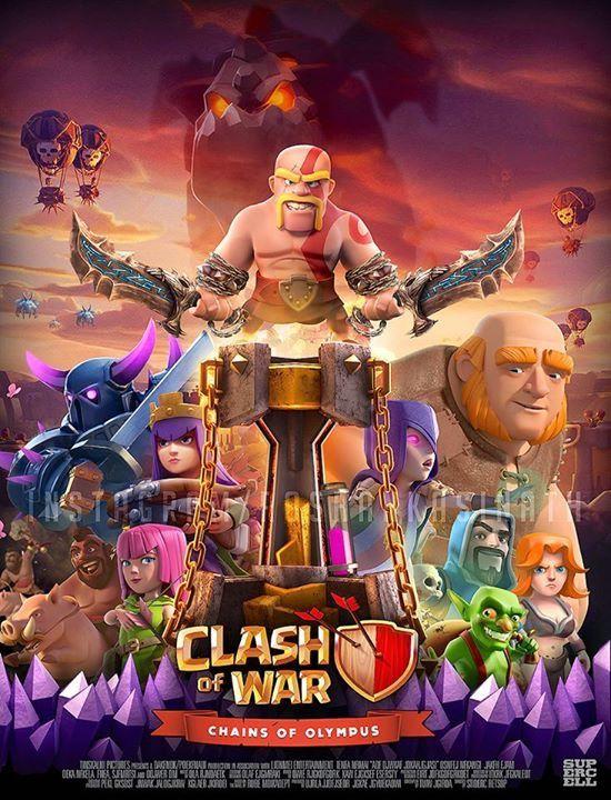 é muito louco lancar o jogo clash of war dos bonecos do clash royale e do clash of clans