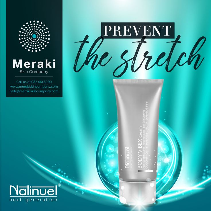 Natinuel Body Vibex uses a combination of actives to treat stretch marks - working on the three main aspects of the problem. For more information visit our website www.merakiskincompany.com or contact us at hello@merakiskincompany.com #MerakiSkinCompany #Natinuel #ProfCeccarelli #MerakiSkinCompany