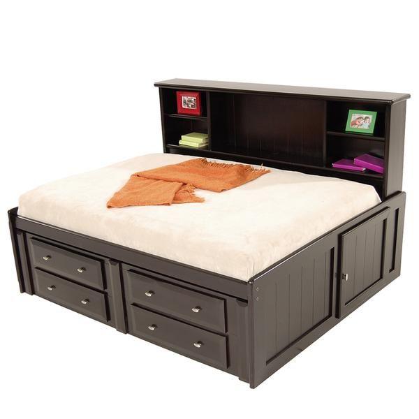 Tammy Black Full Storage Bed | pantry makeover | Full bed ...