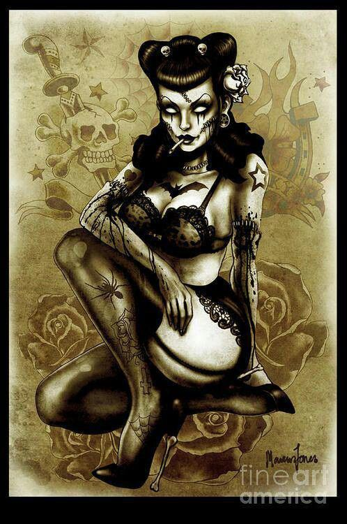 Zombie Pin Up Drawing 25 best Zombie Pin Up ...