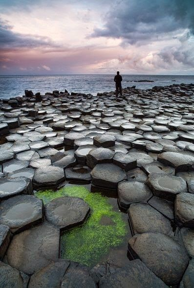 The Hexagons - Giant's Causeway.. Located in Northern Ireland