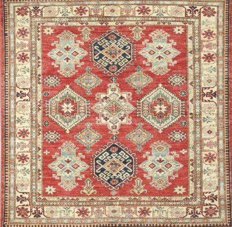 new caucasian area rug area rug this beautiful handmade knotted square rug is