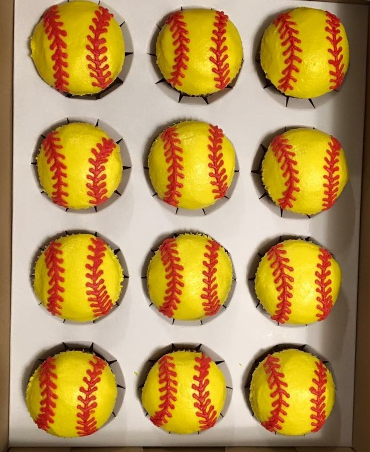 best 25  softball cupcakes ideas on pinterest