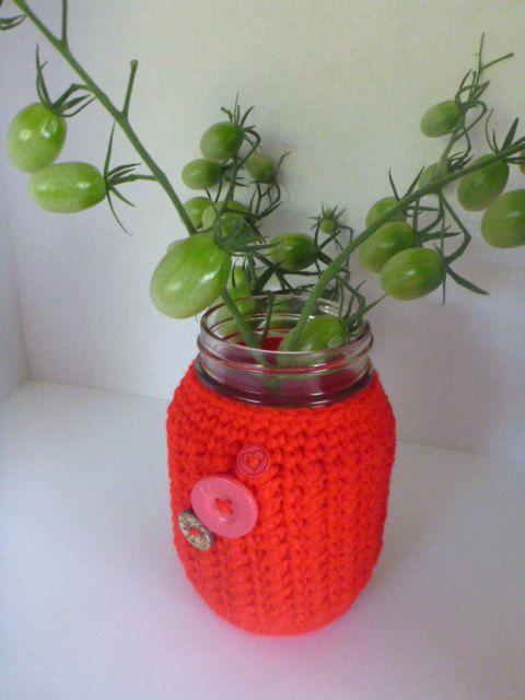 crochet mason jar cover, mason jar cozy, 16 oz mason jar cover, 2 cup mason jar cozy, 500 ml mason jar sleeve by CarolsCreations77 on Etsy