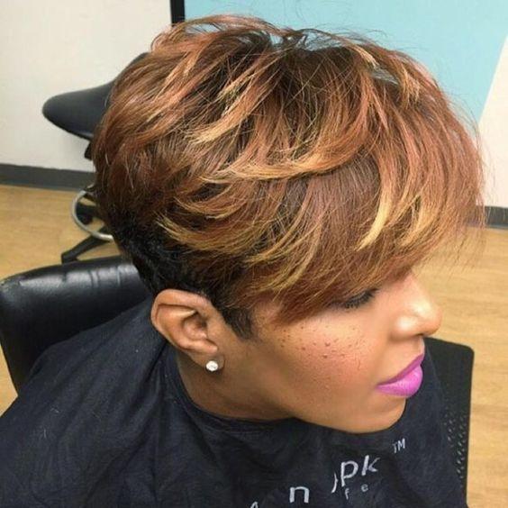 Ombre Short Haircut For Black Women