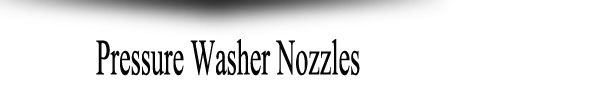 Pressure Washer Nozzles | Power Washer Nozzles Jetter Depot