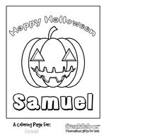 customize halloween pumpkin coloring page frecklebox personalizedgiftsforkids halloweengifts halloweenpartyfavors