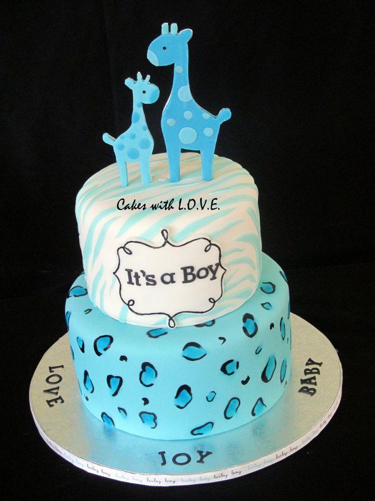 best  safari cakes ideas on   jungle safari cake, Baby shower invitation