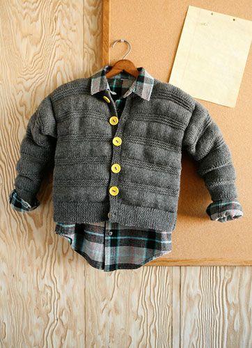 Con las explicaciones en inglés (no te olvides del traductor) hasta la talla 12 años Biff free pattern, knit in Berroco Vintage