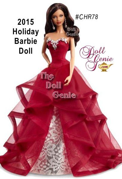beautiful african american barbie in a classy red elegant holiday gown more details