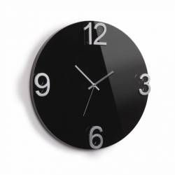 ΡΟΛΟΙ ΤΟΙΧΟΥ 47εκ. ΣΕ ΜΑΥΡΗ ΛΑΚΑ,ELAPSE WALL CLOCK ΤΗΣ UMBRA,118420-037.