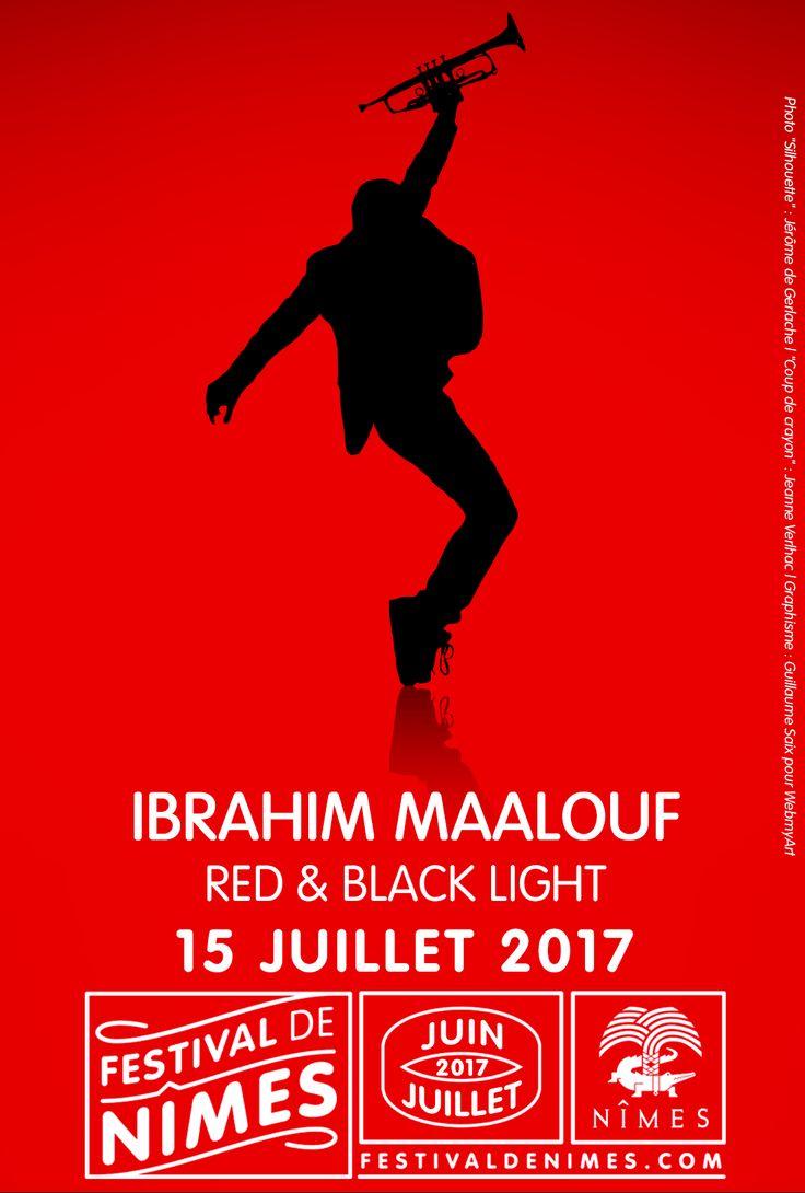 Ibrahim Maalouf au Festival de Nîmes 2017  #poster #musique #rouge