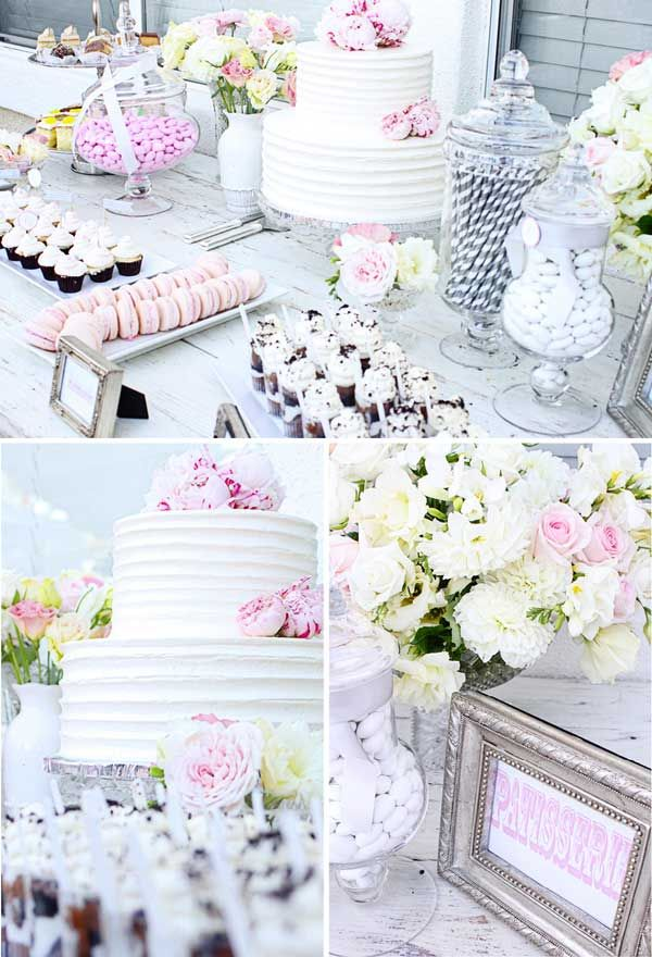 Pink & Gray Bridal Shower Feature