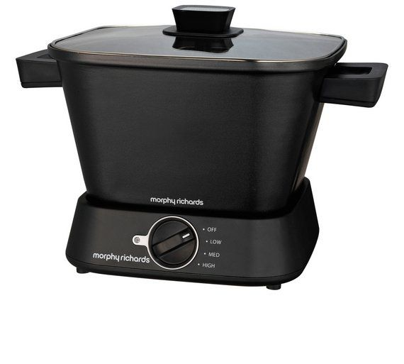 Buy Morphy Richards 460751 Compact Square Slow Cooker - Black at Argos.co.uk - Your Online Shop for Slow cookers, Multi cookers, rice cookers and slow cookers, Kitchen electricals, Home and garden.