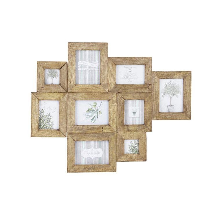 Cadre photo multivues en manguier effet vieilli 69 x 84 cm AGENAIS   Maisons du Monde