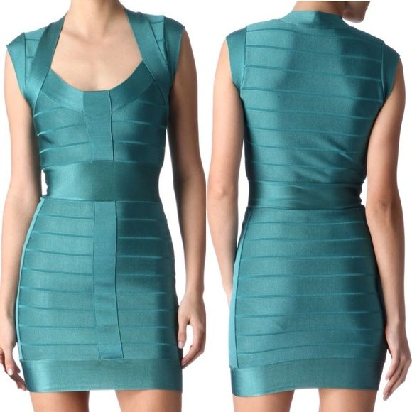 French Connection Green Bandage Dress HOST PICK Best in Dresses & Skirts Party!!!  This French Connection green stretch-knit bandage dress is a sharp piece for a fierce evening look. French Connection Dresses Mini
