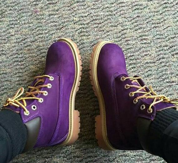 Custom Purple Timberland Boots. Men WOMEN child by TailoredTimbs
