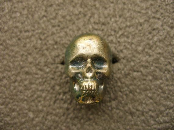 Murano Glass skull ring by GLBriflessi on Etsy, $33.00