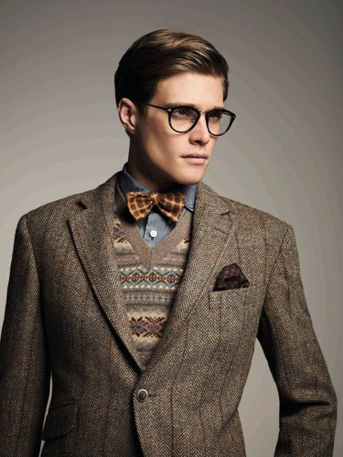Image result for tweed and bow tie