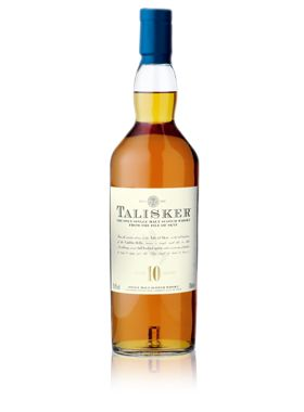 (A-) Talisker 10 (Highlands/Isle of Skye): The island peat gives this whisky a very unique sweet, smoky character. Sweet fruit and sea notes on the nose, with a surge of peat on the palate. The finish includes a sweet peppery kick.