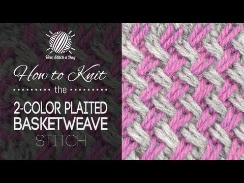 ▶ How to Knit the Two Color Plaited Basketweave Stitch - YouTube