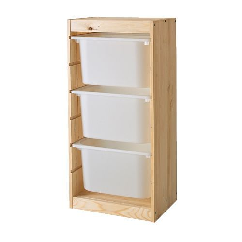 trofast storage combination ikea several grooves allow you. Black Bedroom Furniture Sets. Home Design Ideas