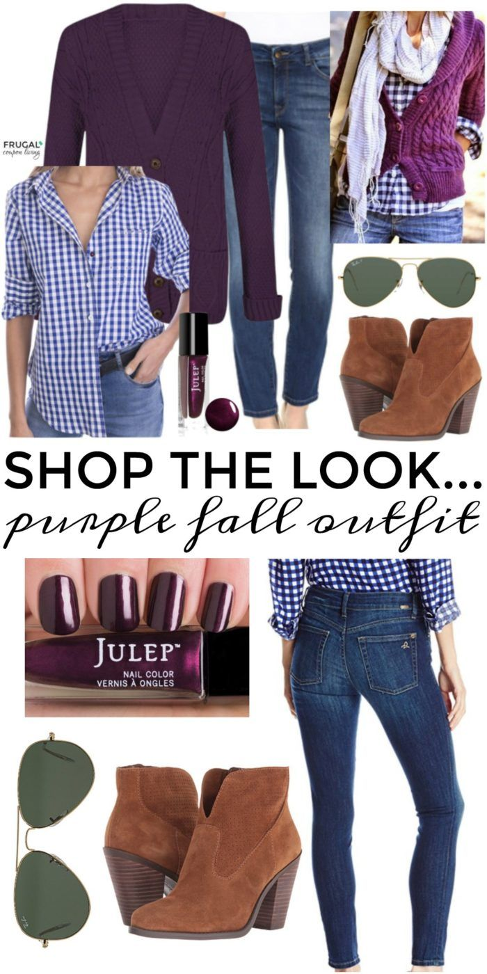 Frugal Fashion Friday Purple Fall Outfit on Frugal Coupon Living - this week we are focusing on cooler weather with this purple inspired fall outfit.