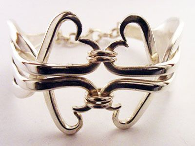 Fork and Spoon Jewelry - Fork Bracelet                                                                                                                                                      More