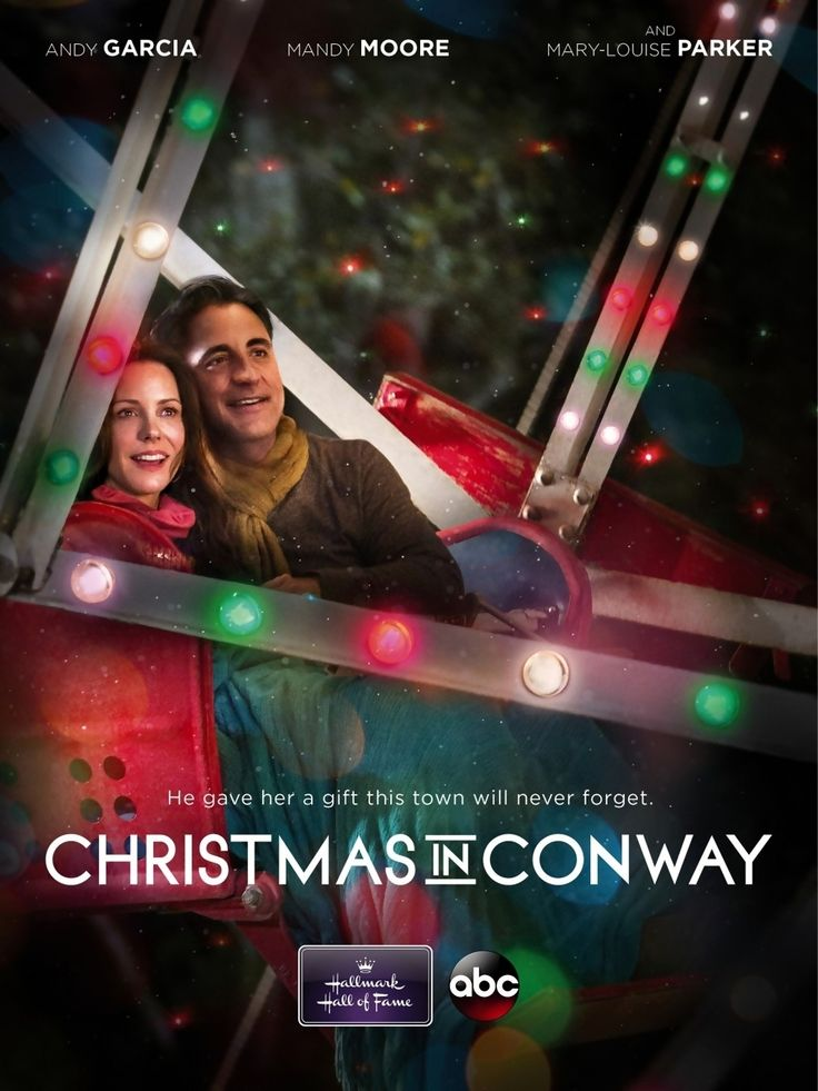 Christmas in Conway is a Hallmark Hall of Fame TV movie starring Mary-Louise Parker, Andy Garcia, and Mandy Moore. When terminally ill Suzy Mayor (Parker) leaves the hospital to spend her last days at her home, her husband, Duncan (Garcia) is beside himself with concern for her and with annoyance at everyone else. When Duncan decides to build a Ferris wheel in the backyard as a Christmas present for Suzy, in honor of the place where Duncan proposed to her, the neighbors are quick to object.