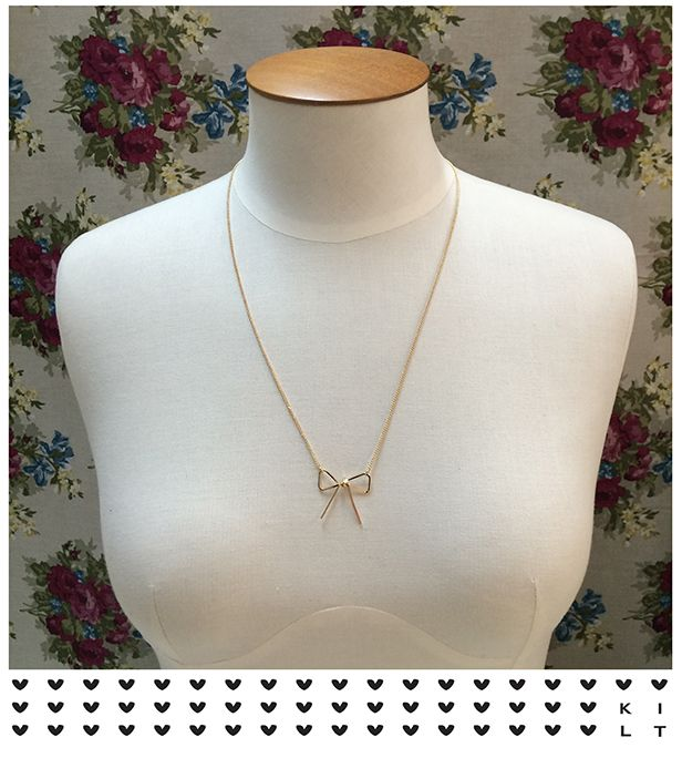 Super cute bow necklace - available at your local KILT boutique! #kiltclothing #necklace #jewellery