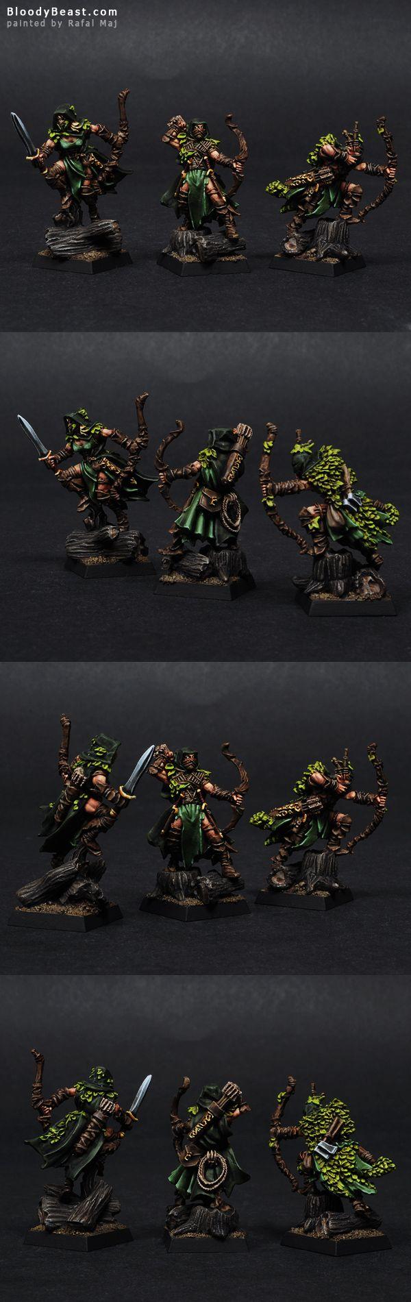 Wood Elves Waywatchers painted by Rafal Maj (BloodyBeast.com)