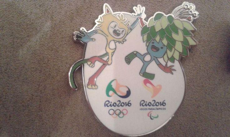 Rio 2016 Olympic Pin Official Mascots Rio 2016 Paralympic Pin Mascot   eBay